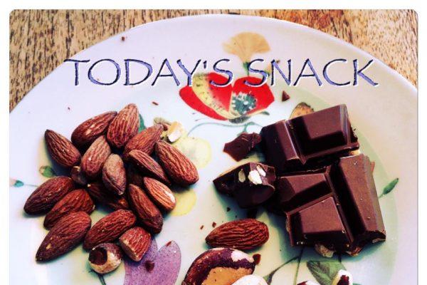 Noten met chocola
