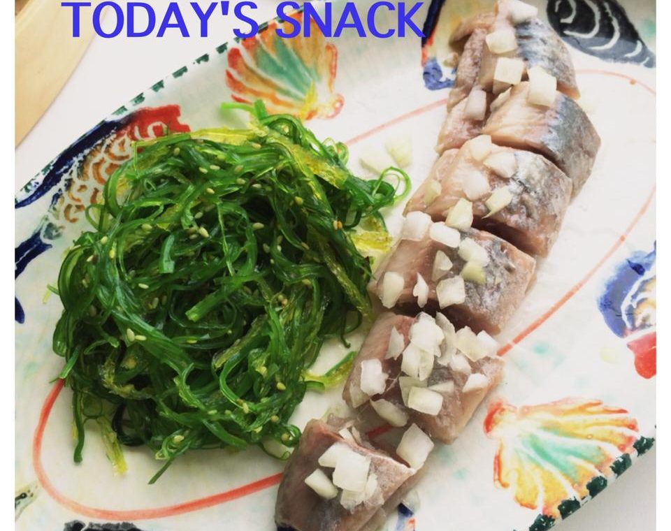 Haring met zeewier salade