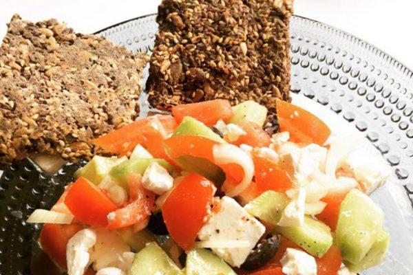 Heerlijke Griekse salade voor lunch!