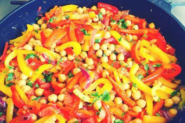 Marokkaanse groenten-stoofpot met kikkererwten
